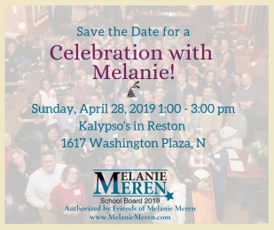 April 28 Melanie Meren campaign event