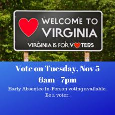 Vote on Tuesday, Nov 2 6am - 7pm